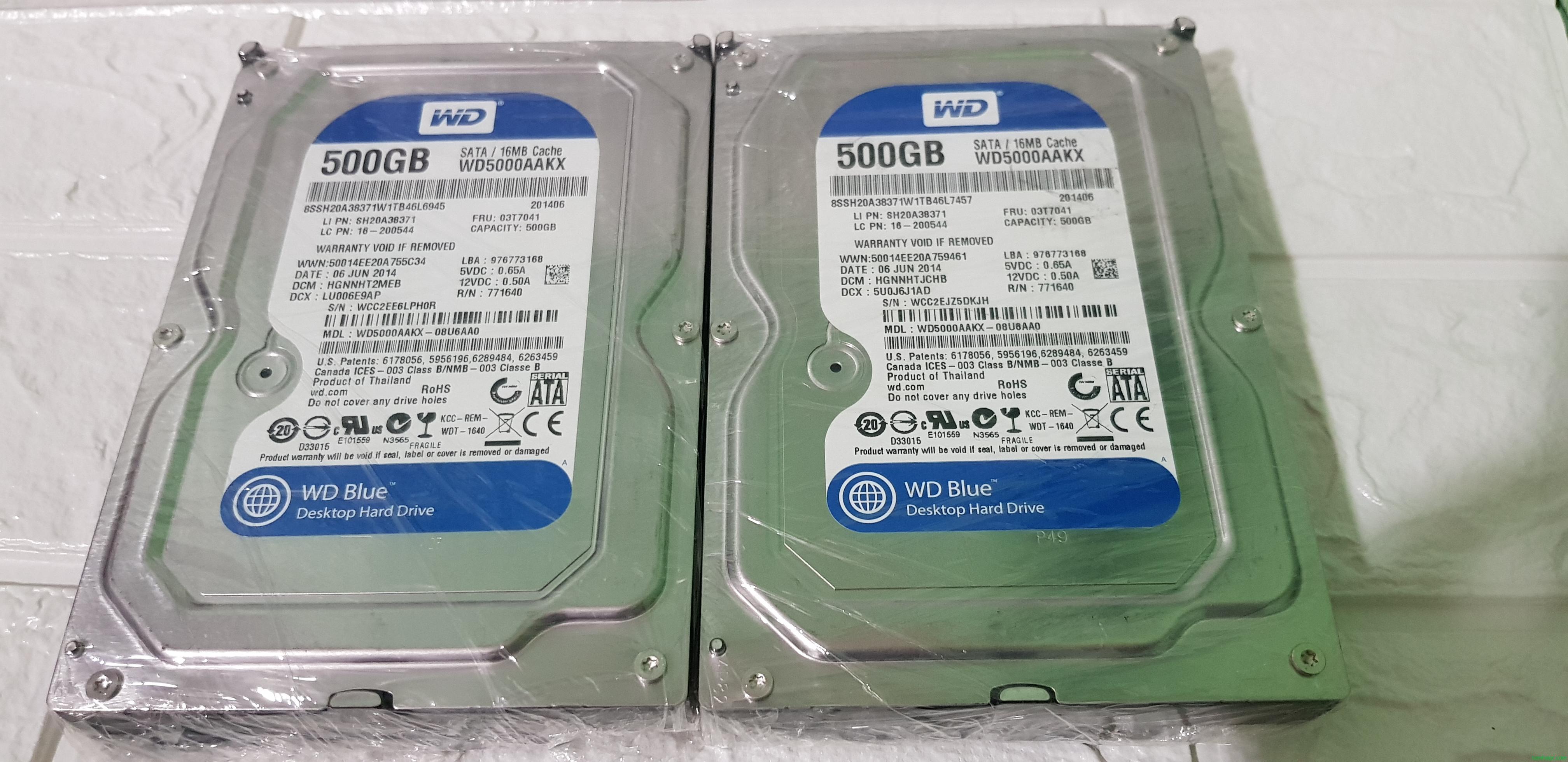 Ổ cứng máy tính HDD Seagate & Western SATA 500 GB